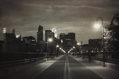 Photograph - Vintage Stone Arch Center Line by Heidi Hermes