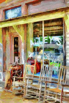 Painting - Vintage Storefront Ap by Dan Carmichael
