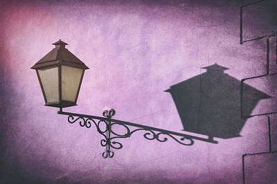 Wine Royalty-Free and Rights-Managed Images - Vintage Street Lamp Gdansk Poland  by Carol Japp