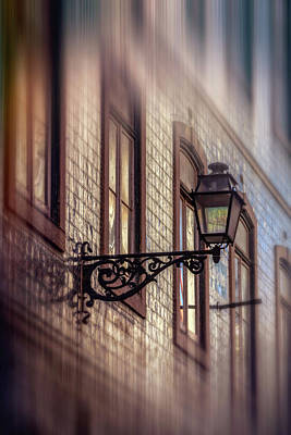 Photograph - Vintage Street Lamp In Lisbon Portugal  by Carol Japp