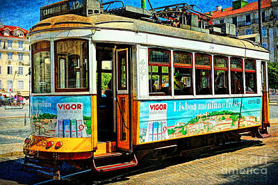 Photograph - Vintage Street Tram In Lisbon by Sue Melvin