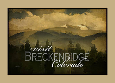 Photograph - Vintage Style Breckenridge Poster  by Ann Powell
