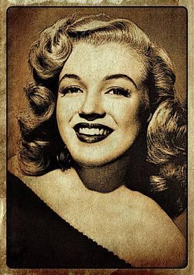 John Wayne Digital Art - Vintage Style Marilyn Monroe by Esoterica Art Agency