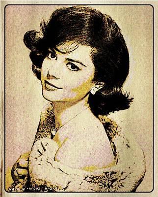 Thriller Digital Art - Vintage Style Natalie Wood by Esoterica Art Agency