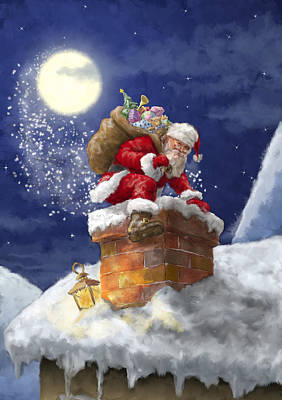 Santa Claus Painting - Vintage Style Santa Claus by Patrick Hoenderkamp