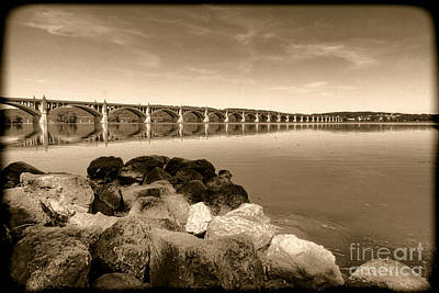 Vintage Susquehanna River Bridge Art Print
