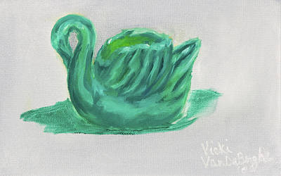 Painting - Vintage Swan by Vicki VanDeBerghe