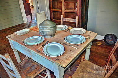 Photograph - Vintage Table by Savannah Gibbs