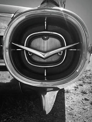 Photograph - Vintage Tail Fin In Black And White by Kelly Hazel