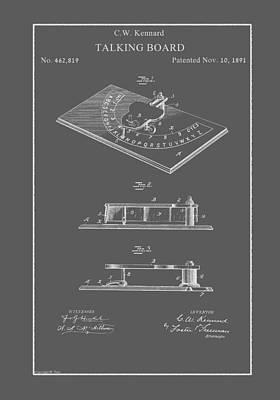 Drawing - Vintage Talking Board Patent by Vintage Pix