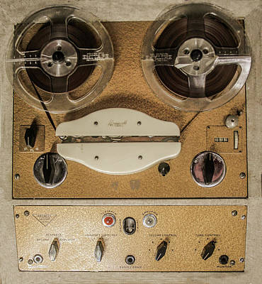 Photograph - Vintage Tape Sound Recorder Reel To Reel by Tom Conway