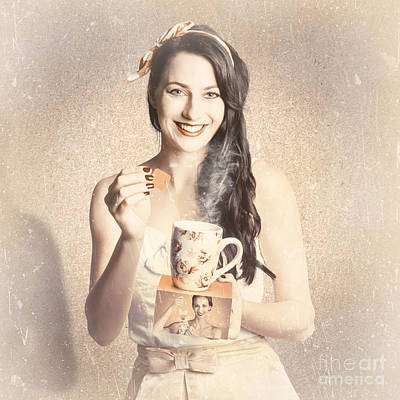 Vintage Tea Advertisement Pin-up Art Print
