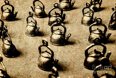Cafe Photograph - Vintage Teapot Party by Jorgo Photography - Wall Art Gallery