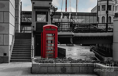 Photograph - Vintage Telephone Booth by Deborah Klubertanz