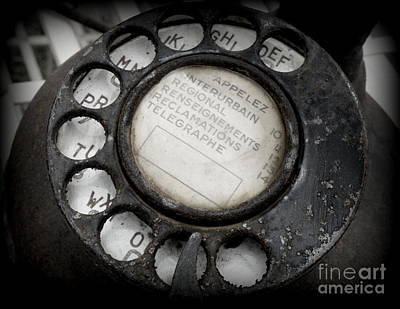 Communication Photograph - Vintage Telephone by Lainie Wrightson