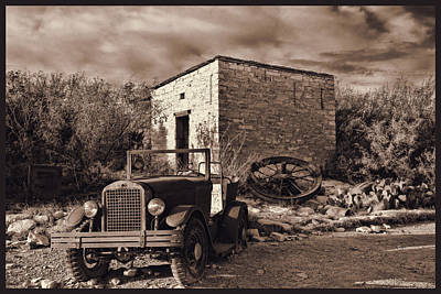 Photograph - Vintage Terlingua Ghost Town by Judy Vincent