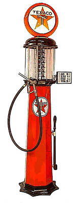 Digital Art - Vintage Texaco Gas Pump - Circa 1930's by Marlene Watson