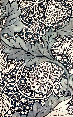 Vine Painting - Vintage Textile Pattern Design For Avon Chintz by William Morris
