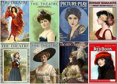 Vintage Theatre Magazine Covers Art Print by Don Struke