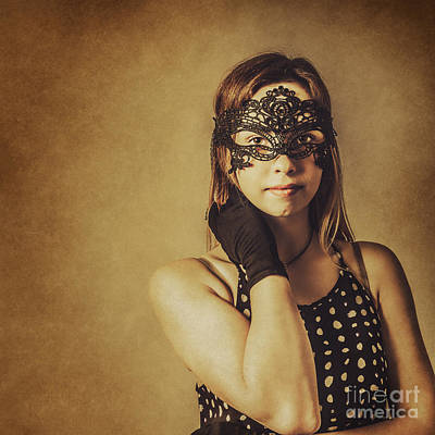 New Years Eve Photograph - Vintage Theatre Show Girl  by Jorgo Photography - Wall Art Gallery