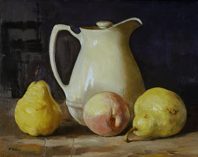 Painting - Vintage Thermal Carafe With Fruit by Robert Holden