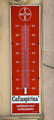Photograph - Vintage Thermometer by Andrew Fare