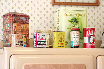 Photograph - Vintage Tin Cans by Lilian Forsyth