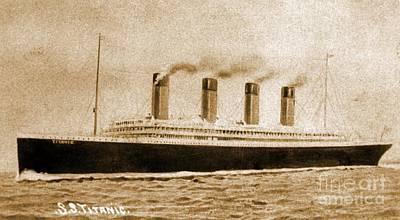 The Titanic Photograph - Vintage Titanic Postcard by John Malone