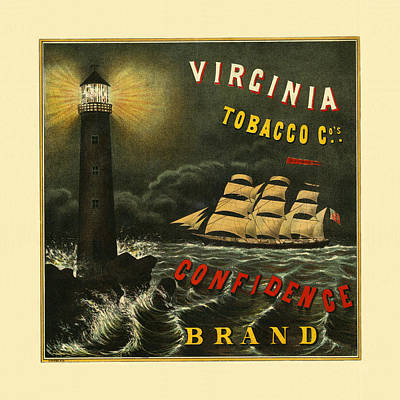 Photograph - Vintage Tobacco Ad 1900 by Andrew Fare