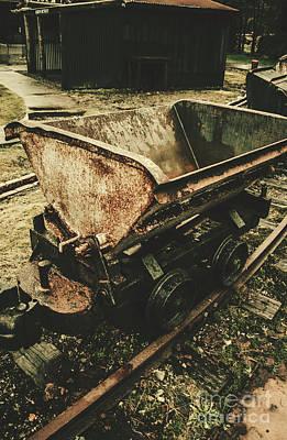 Vintage Toned Mine Cart Art Print