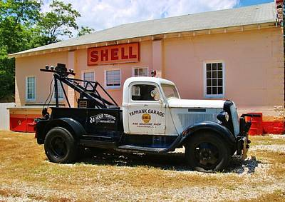 Photograph - Vintage Tow Truck by Karen Silvestri