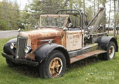 Photograph - Vintage Tow Truck by Marcia Lee Jones