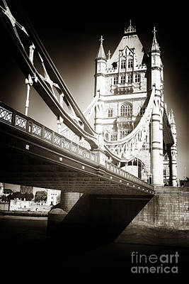 Photograph - Vintage Tower Bridge by John Rizzuto