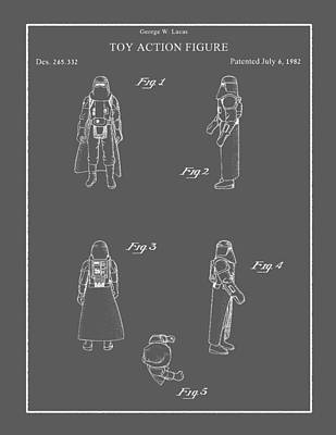 Drawing - Vintage Toy Figure Patent by Vintage Pix
