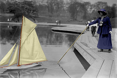 Photograph - Vintage Toy Sailboat by Andrew Fare