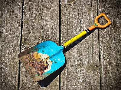 Photograph - Big Boss Vintage Toy Shovel by Colleen Kammerer