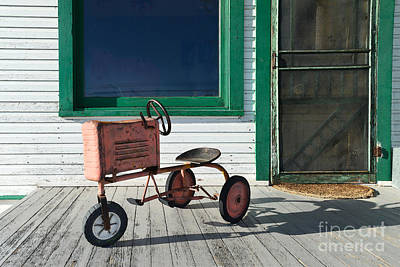Screen Doors Photograph - Vintage Toy Tractor by Catherine Sherman