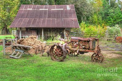 Vintage Tractor Art Print by Larry Braun
