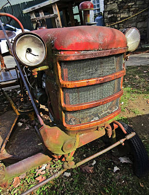 Photograph - Vintage Tractor Mower by Tony Grider