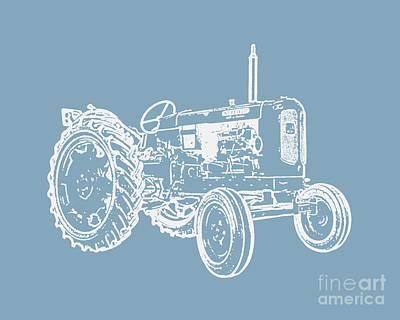 Photograph - Vintage Tractor Pop Art by Edward Fielding
