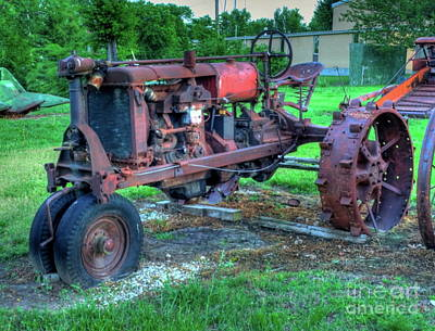 Photograph - Vintage Tractor by Tony Baca