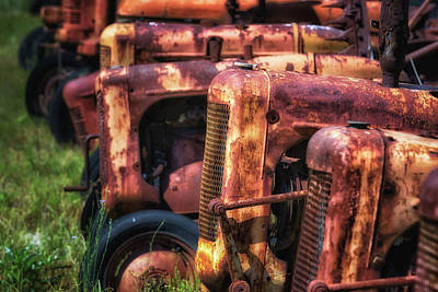 Photograph - Vintage Tractors by James Barber