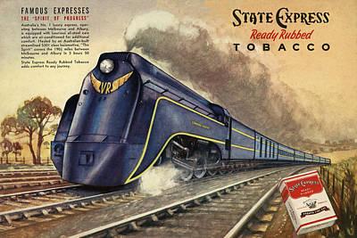 Cigarette Ads Photograph - Vintage Train 4 by Andrew Fare