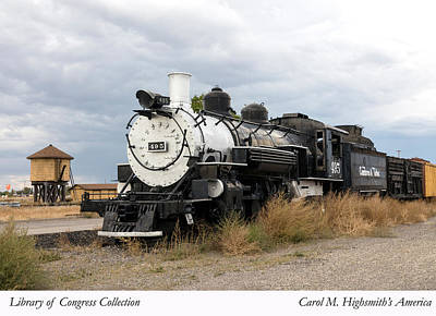 Photograph - Vintage Train At A Scenic Railroad Station In Antonito In Colorado by Carol M Highsmith