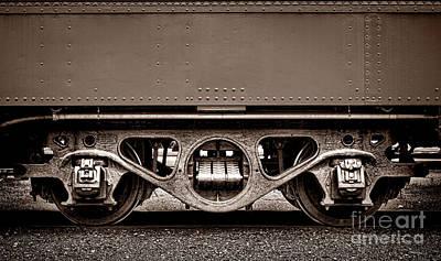 Photograph - Vintage Train Car Truck by Olivier Le Queinec