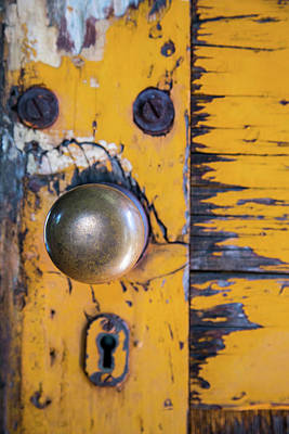 Photograph - Vintage Train Door by Karol Livote