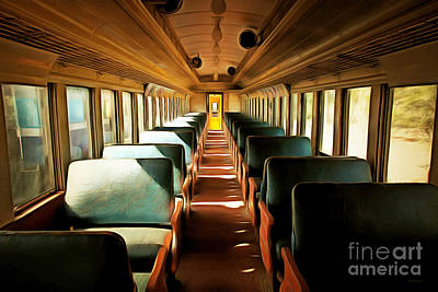 Photograph - Vintage Train Passenger Car 5d28306brun by Home Decor
