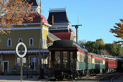 Photograph - Vintage Train Station In Color by John Clark