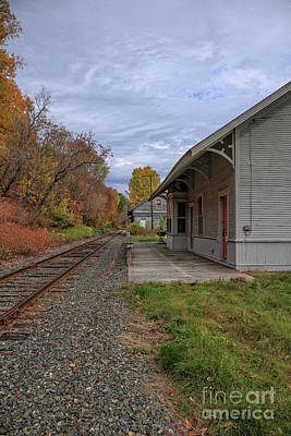 Photograph - Vintage Train Station In Vermont by Edward Fielding