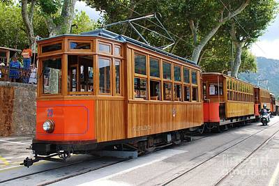 Photograph - Vintage Tram At Soller In Majorca by David Fowler